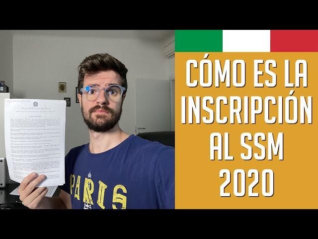 ¿Cómo inscribirse al EXAMEN SSM 2020? | Medicina en Italia | Diario de un MIR
