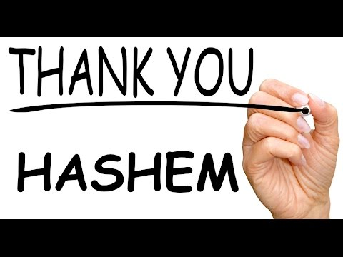 Daily Chidush: How Does a Jewish Person Say Thank You?