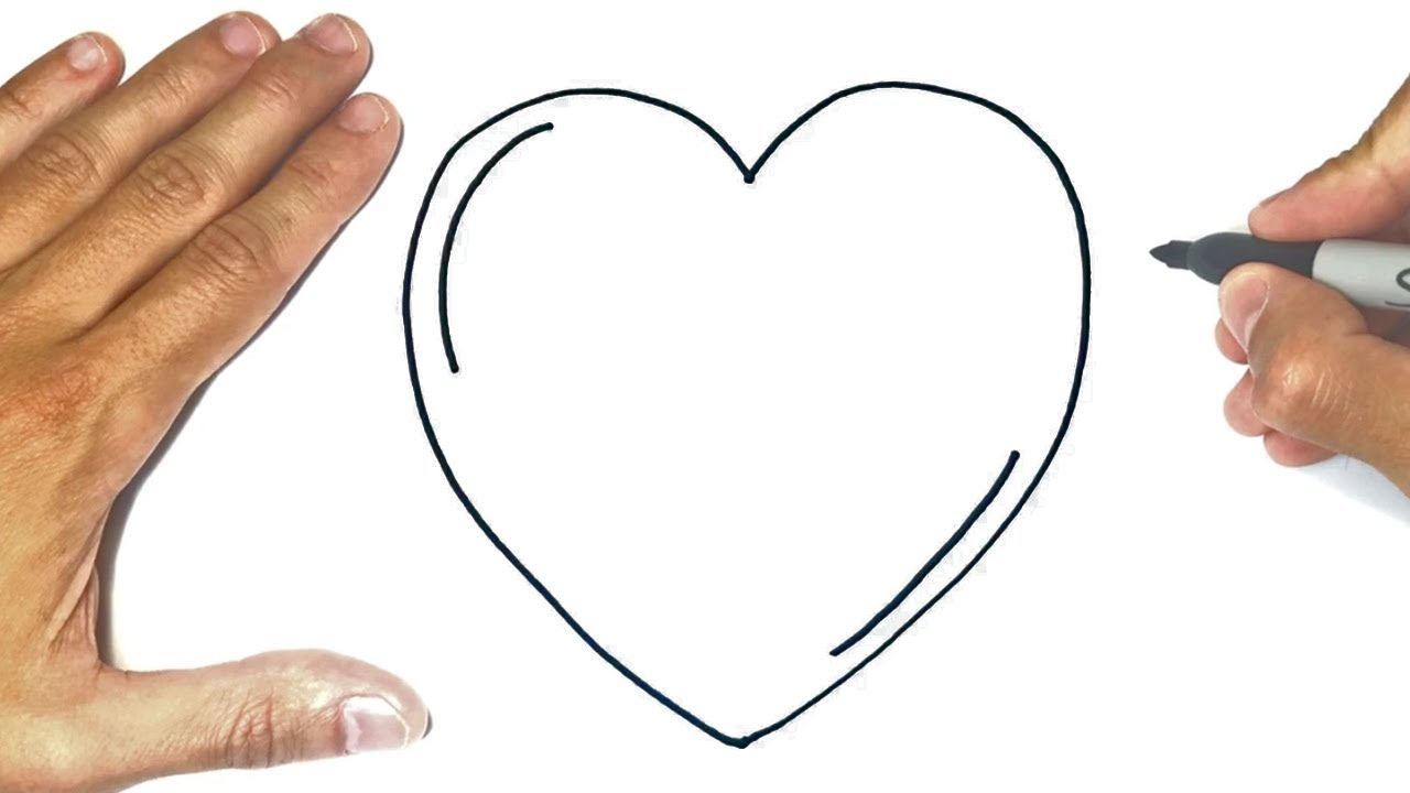 How to draw a Heart Step by Step | Heart Drawing Lesson ...