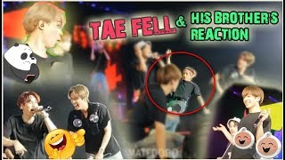 Taehyung FALL in Anpanman and his brother's reaction (BTS reaction to poor Tae Tae)