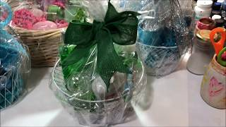 DIY Mothers Day or Anytime Gift Baskets Using Dollar Tree Items.