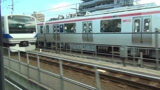 Repeat youtube video 【常磐線】 E231系快速の爆走 @北千住⇒松戸 【爆音MT73】