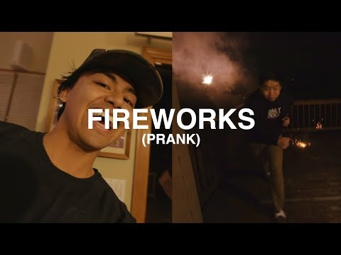 PRANKING MY FAMILY WITH FIREWORKS!! (Hahaha) - EPISODE 82