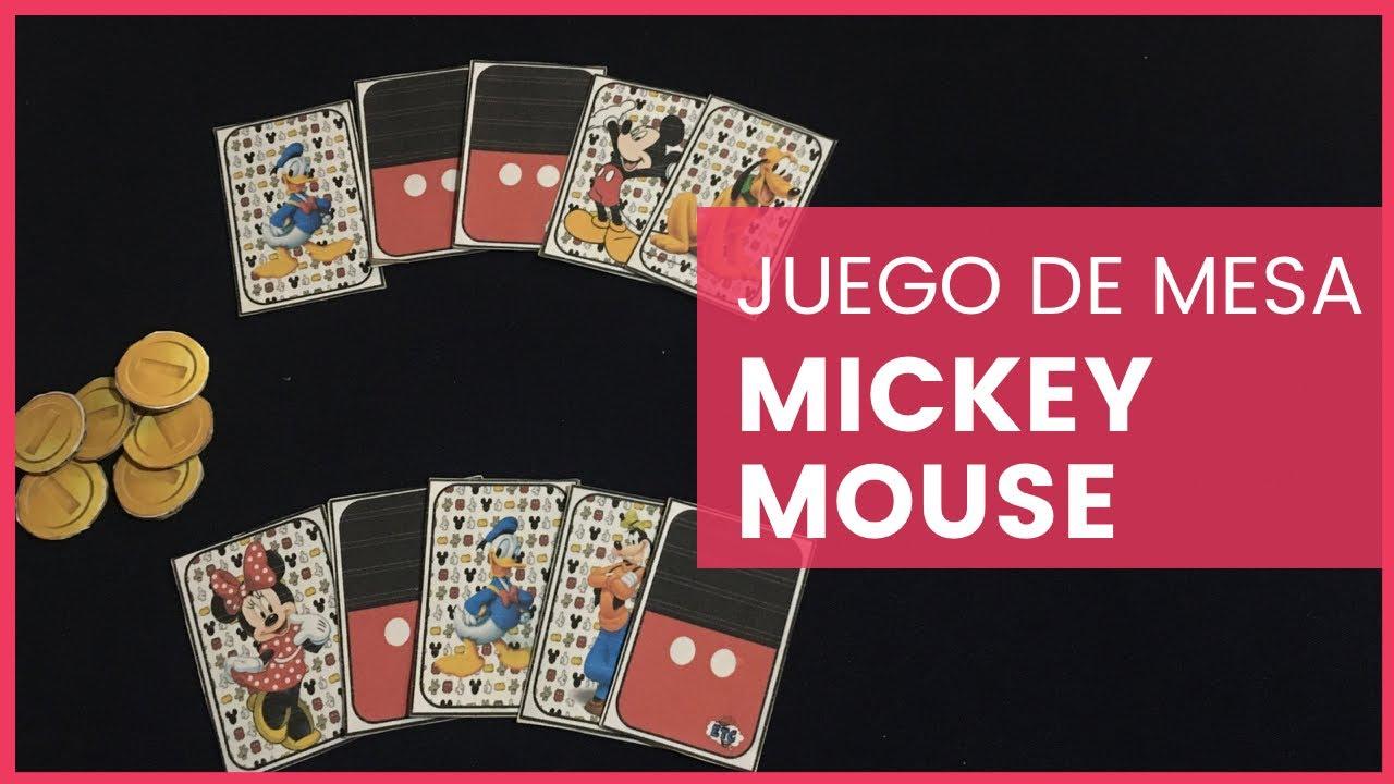 Como Hacer Un Juego De Mesa Casero De Mickey Mouse Etc Youtube