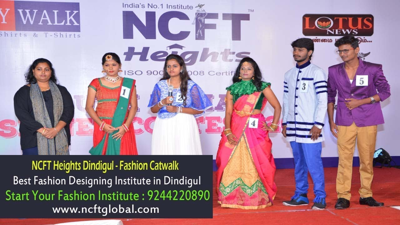 Best Fashion Designing Institute In Dindigul Ncft Heights Admis 9244220234 Youtube