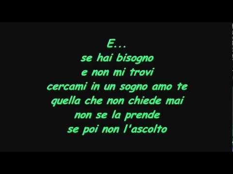 vasco rossi - e... with lyrics
