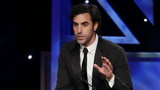 Sacha Baron Cohen Kills Presenter & Accepts Award  Extended  - 2013 Britannia Awards On Bbc America