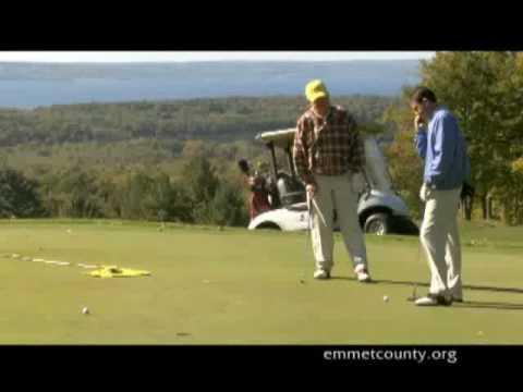 Golfing in Emmet County, Michigan