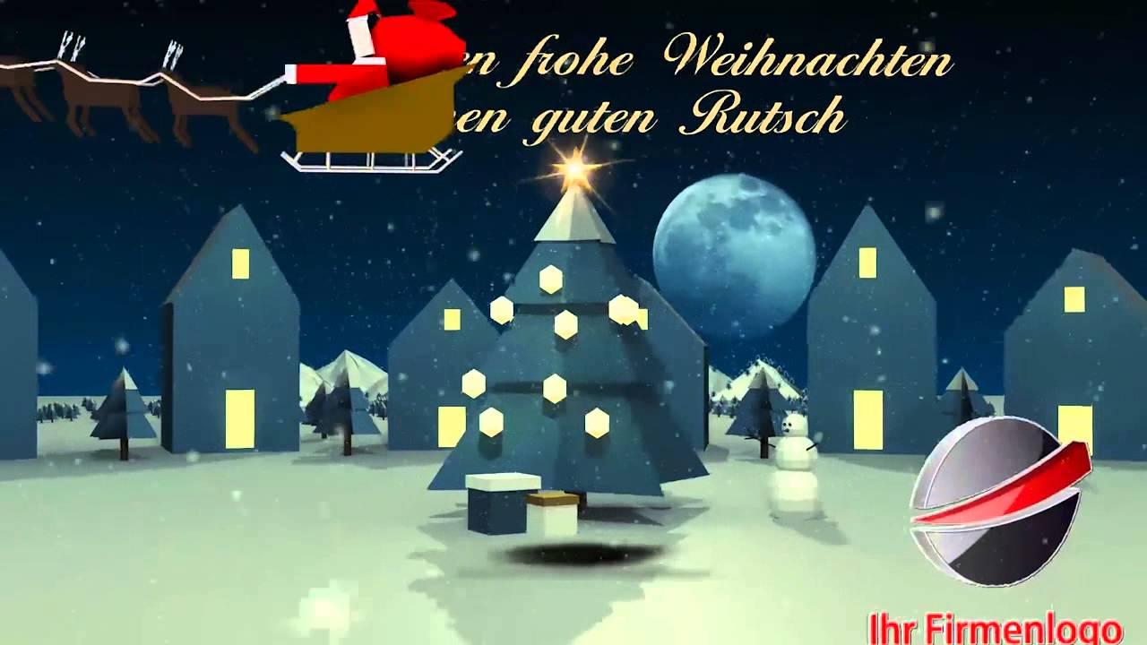 weihnachtsvideo videokarte f r unternehmen von pregondo. Black Bedroom Furniture Sets. Home Design Ideas