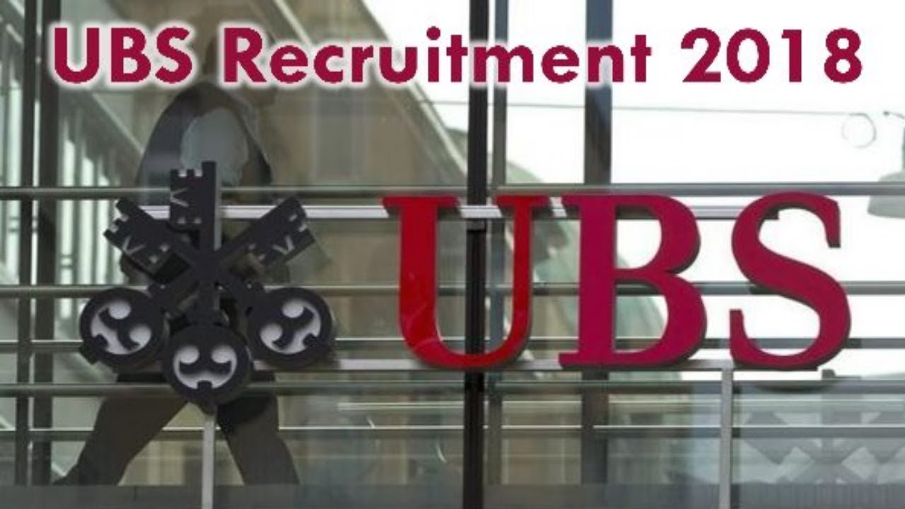 UBS Bank Recruitment 2018 - Private Jobs - Jobs in September - Apply Now !