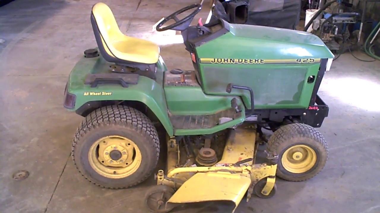 John Deere 425 Tractor Parts : John deere aws lawn tractor mower for sale in parts