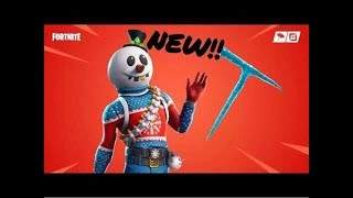 'New' (SLUSHY SOLDIER) Skin and NEW ICICLE Pickaxe Gameplay (Fortnite) LIVE Road to 300 sub:)