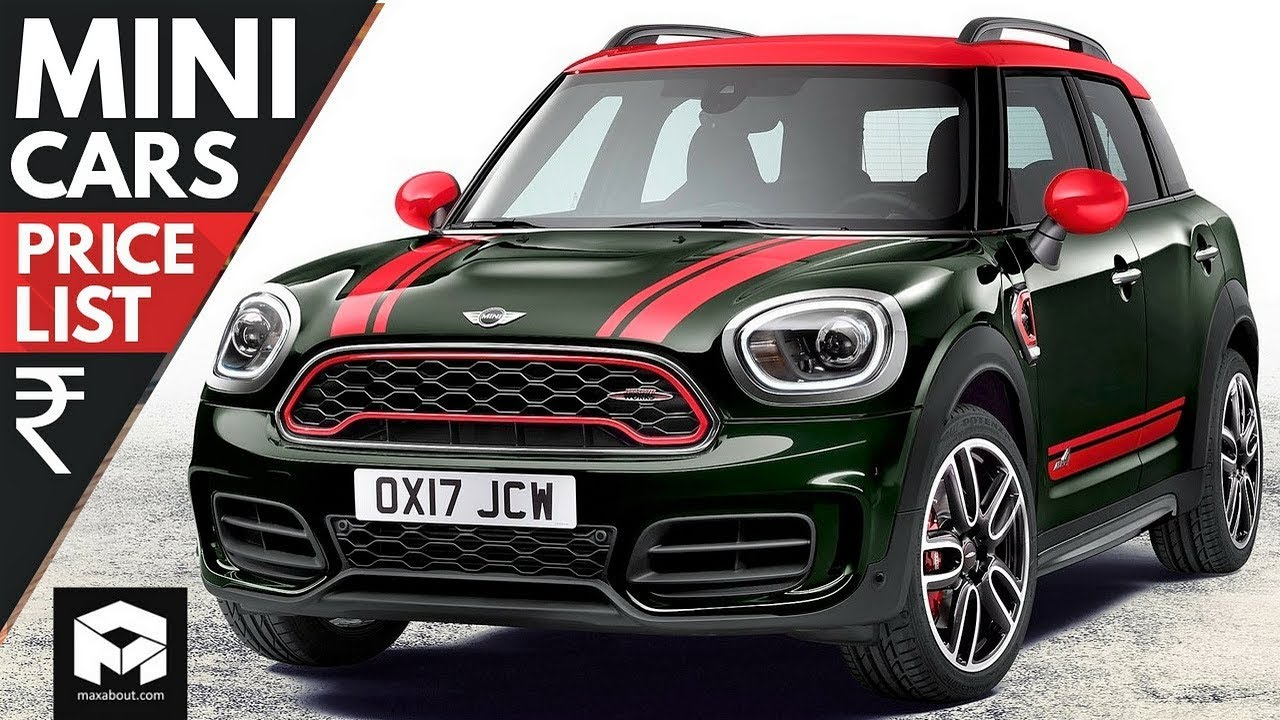 Mini Cars Price List 2018 Youtube