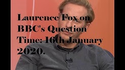 Laurence Fox on BBC's Question time 16th Jan 2020. Only Laurence Fox edit.