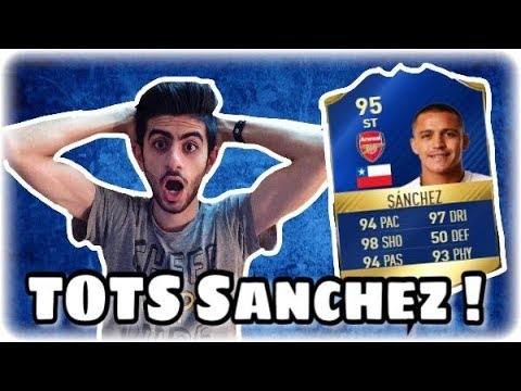 FIfa 17 Ultimate Team - TOTS Alexis sanchez gameplay !