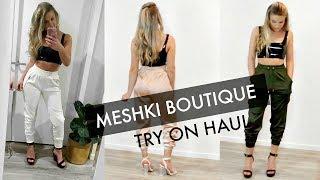 MESHKI BOUTIQUE TRY ON HAUL! Joggers -  April Morris