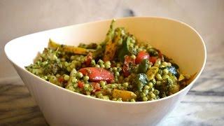 Israeli Couscous with Kale Pesto and Sauteed Veggies - Episode 74 - Reveenas Kitchen