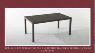 Kohls Chatham Rectangular Aluminum Slat Top Dining Table