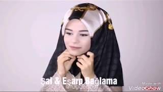 BİRBİRİNDEN FARKLI ŞAL EŞARP BAĞLAMA MODELLERİ | Hijab Tutorial