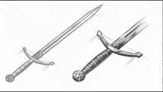 How to Draw a Medieval Sword