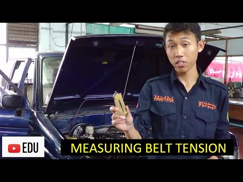 Cara Mengukur Kekencangan Drive Belt Mesin Mobil Menggunakan Spring Scale