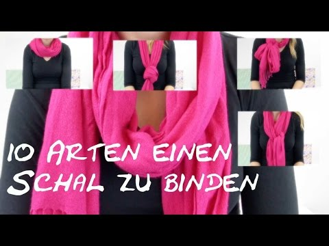 10 arten einen schal zu binden diy how to 10 ways to wear a scarf in 5 min youtube. Black Bedroom Furniture Sets. Home Design Ideas