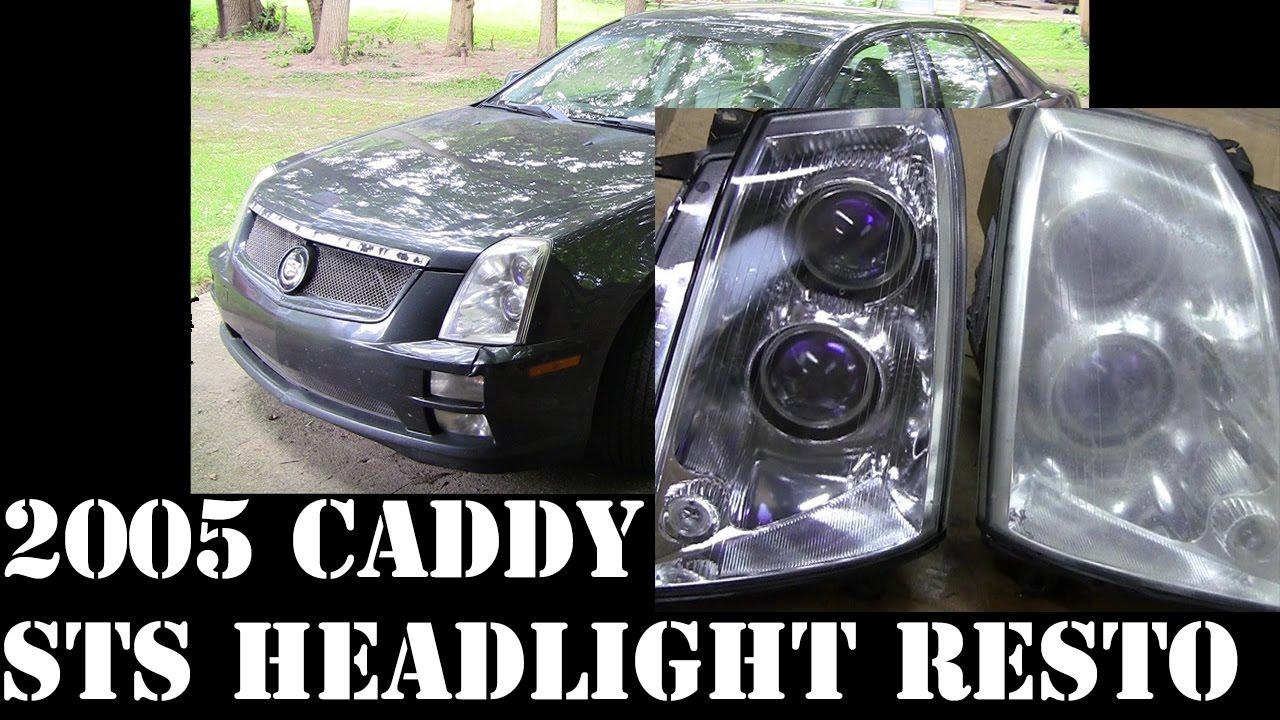 2005 Cadillac Sts Headlight Fog Running Light Restore Pt2