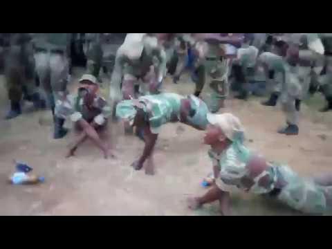 Zimbabwean Soldiers Enjoying Themselves