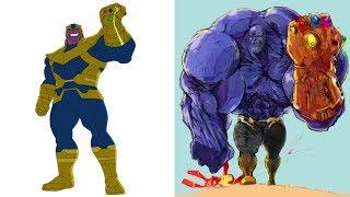 Dessin animé Et DC super-héros Vilains Musculaire Version