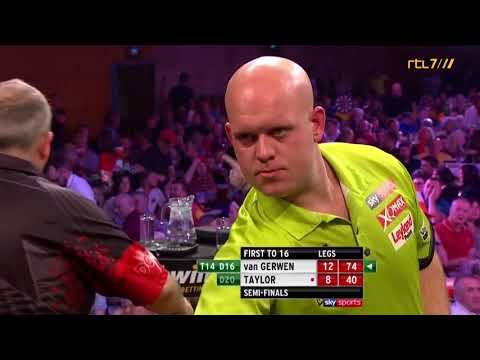 Interview with van Gerwen after beating Taylor (Grand Slam 2017) (subtitles)