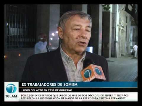 LOS EX TRABAJADORES DE SOMISA CELEBRARON EL COBRO DE LAS INDEMNIZACIONES