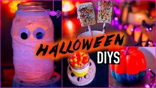 DIY halloween decorations + treats Thumbnail