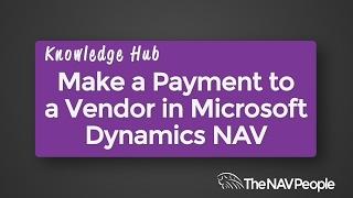 Make a Payment to a Vendor