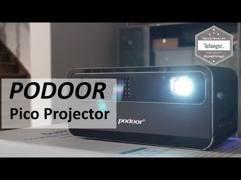 Pico Projector PODOOR HDP300 - Mini Vidéo Projecteur LED - 250 Ansi Lumens - 854*480 Up To 1080p 4K