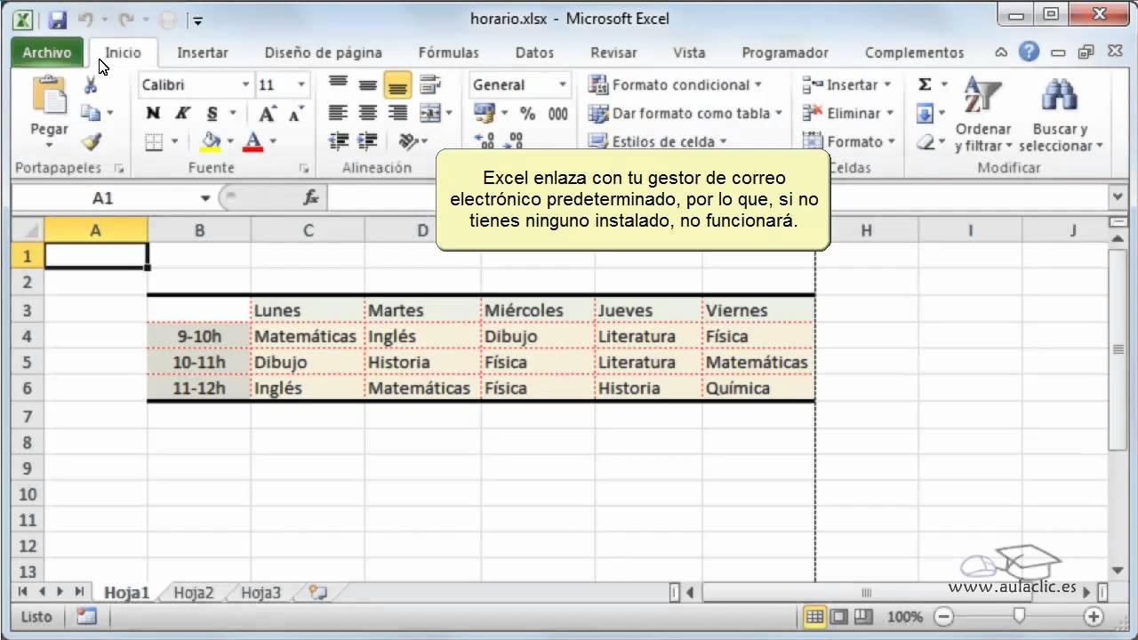 Curso de Excel 2010. 19.1. Enviar libro por correo. - YouTube