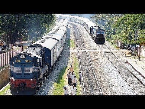 EPIC Rarest ever OVERTAKE by late running Train : Indian Railways
