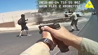 Las Vegas Police Shoot Stabbing Suspect Fleeing Officers