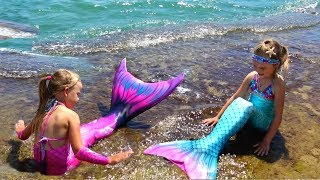 Девочки РУСАЛКИ распаковка хвостов и ПРЕВРАЩЕНИЕ В РУСАЛКУ Real little Mermaid
