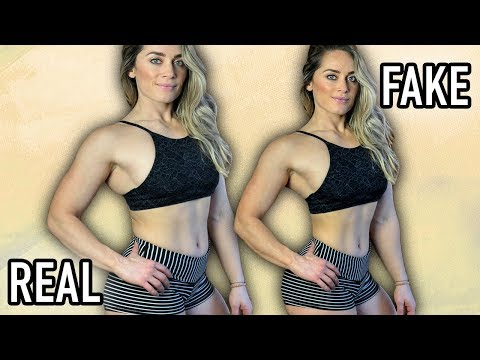 Photoshop The Perfect Body - The dishonest side of fitness models? FaceTune, Photo Retouching