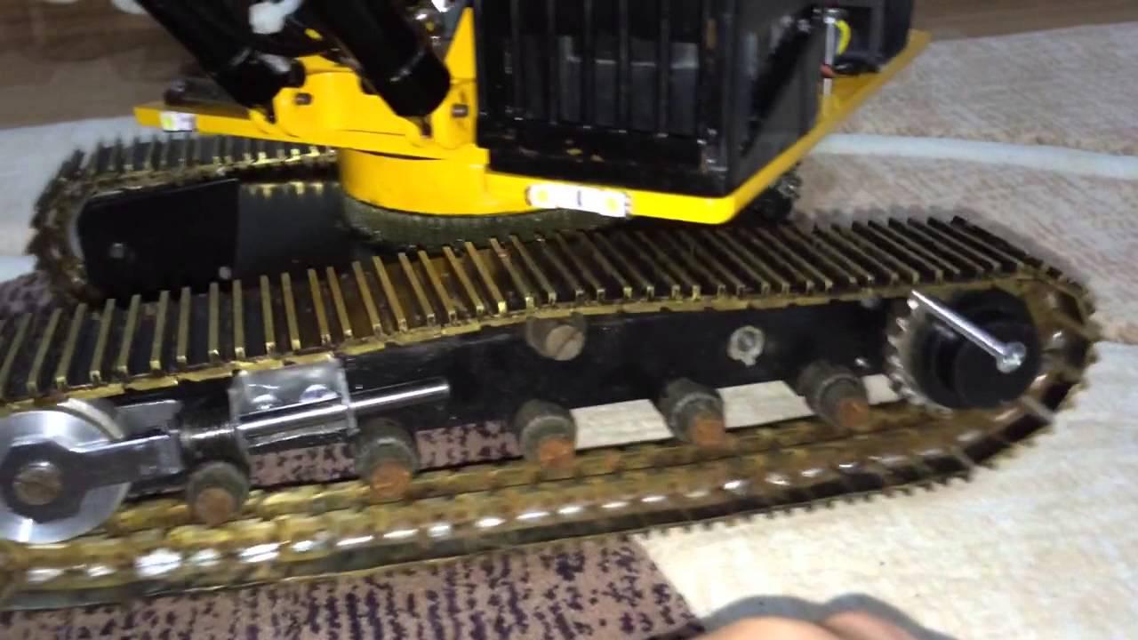 Excavator track tension test