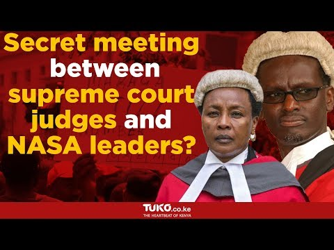 Secret meeting between supreme court judges and NASA leaders?