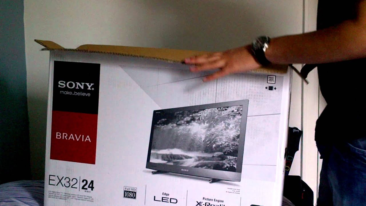 Sony Bravia Ex32 24inch Smart Tv Unboxing Youtube