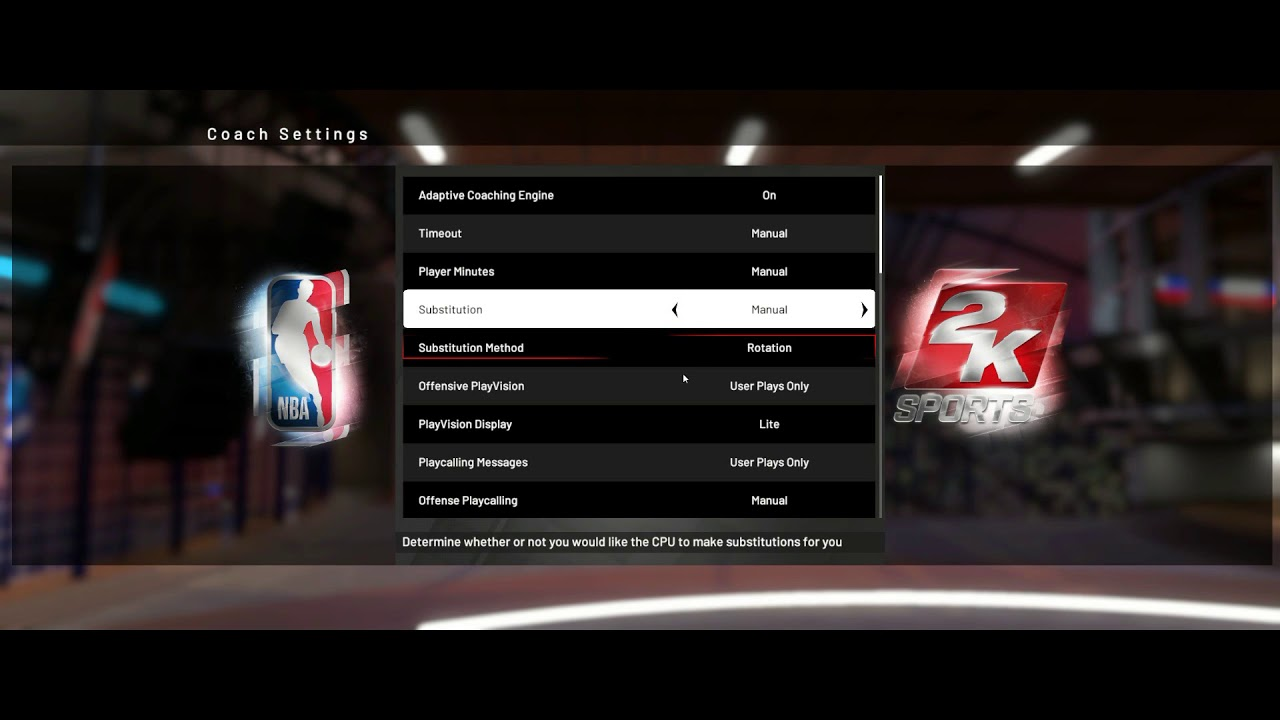 How to turn off auto subs - NBA 2K19
