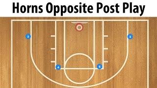 Horns Opposite Post Basketball Play