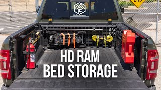 HD Ram 2500 / 3500 Bed Storage Molle Panels | Icky Concepts