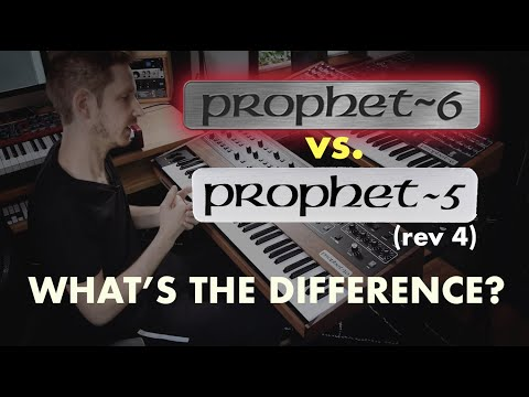 what's the difference between the prophet 5 reissue and the prophet 6?