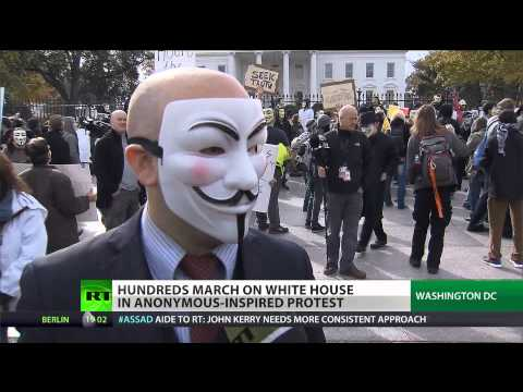 Face Time: Hundreds March In DC In Anonymous Inspired Protest