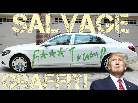Graffiti TOTALS Brand New Mercedes & Range Rover! President Trump MAD?