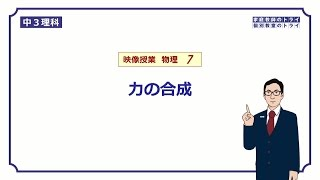 【中3 理科 物理】 力の合成の作図 (16分)