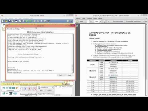 Configurando Roteador no Packet